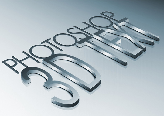 photoshop 3d text  14 Spectacular 3D Text Effects Tutorials