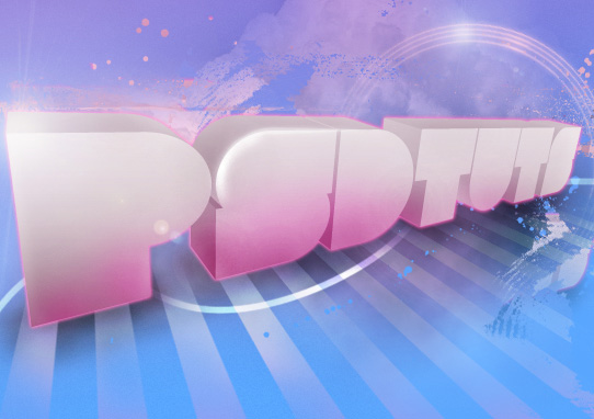 psdtuts  14 Spectacular 3D Text Effects Tutorials