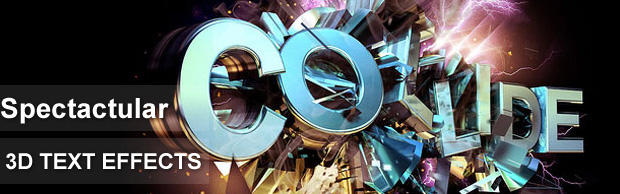 spectacular text  14 Spectacular 3D Text Effects Tutorials