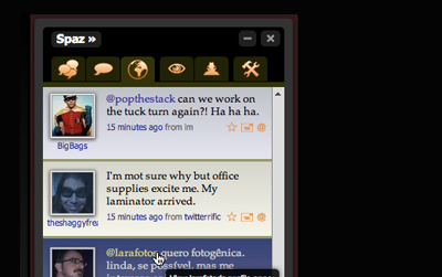 twitter spaz 21 Adobe Air Apps For Designers And Social Media Addicts