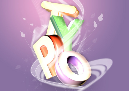 typo  14 Spectacular 3D Text Effects Tutorials