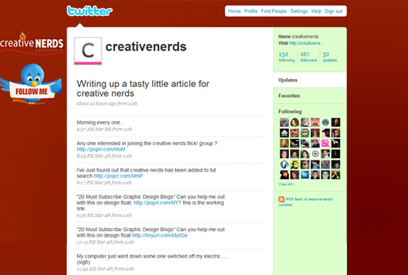 creative nerds1 30 Mind Blowing Inspirational Twitter Backgrounds