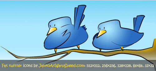 2fat5 birds Over 75+ Beautiful Twitter Design Icons