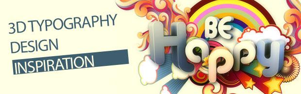 25 Inspirational 3D Typography Designs | Creative Nerds
