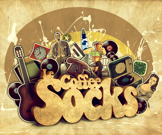 coffie socks 25 Inspirational 3D Typography Designs