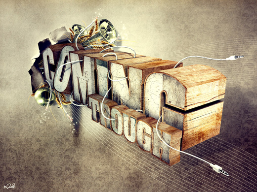 coming through 25 Inspirational 3D Typography Designs