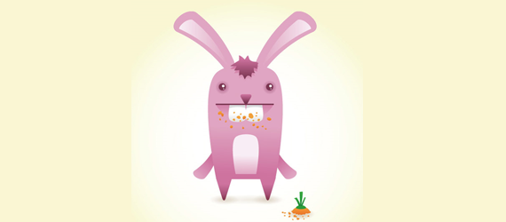 cute bunny 30 Cool Creative Cartoon Character Tutorials