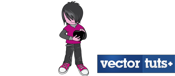 emo kid 30 Cool Creative Cartoon Character Tutorials