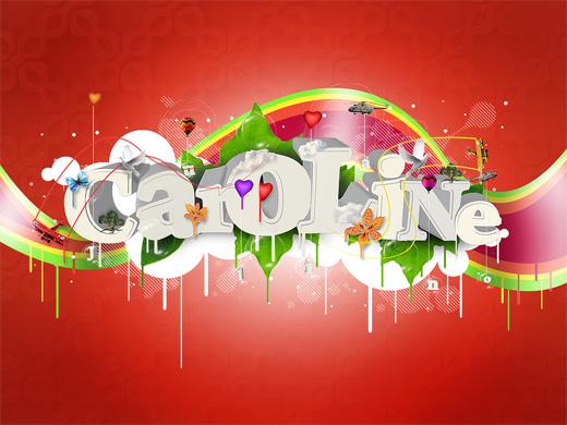 for someone special by wrong code 25 Inspirational 3D Typography Designs