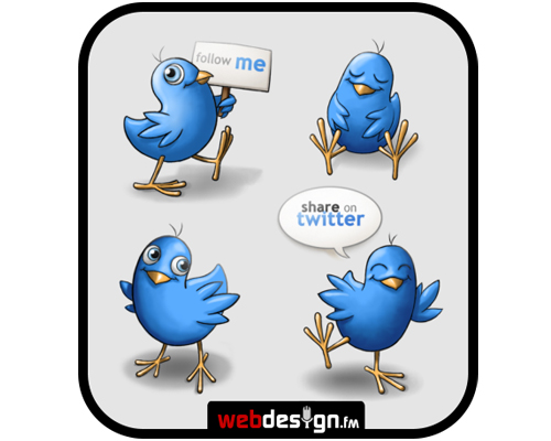 happybirds Over 75+ Beautiful Twitter Design Icons