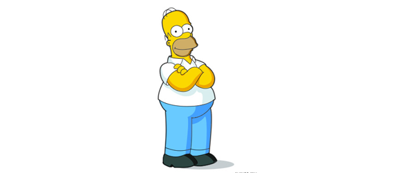 homer simpson 30 Cool Creative Cartoon Character Tutorials