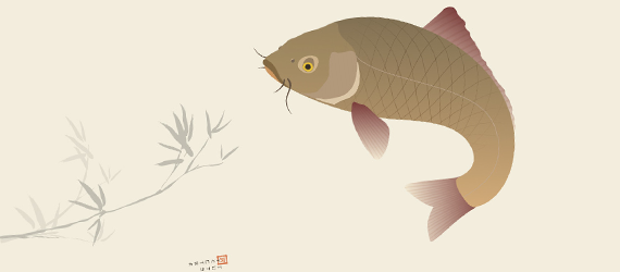 japanese koi carp illustration 30 Cool Creative Cartoon Character Tutorials