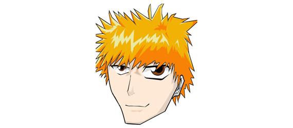 kurosaki ichigo 30 Cool Creative Cartoon Character Tutorials