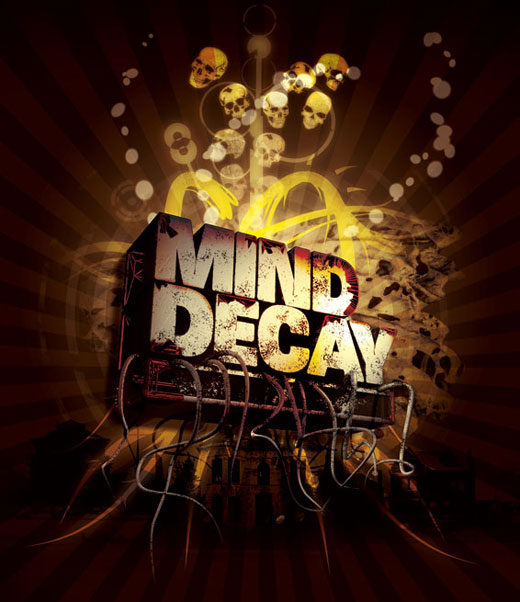 mind decay 25 Inspirational 3D Typography Designs