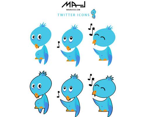 mjan Over 75+ Beautiful Twitter Design Icons