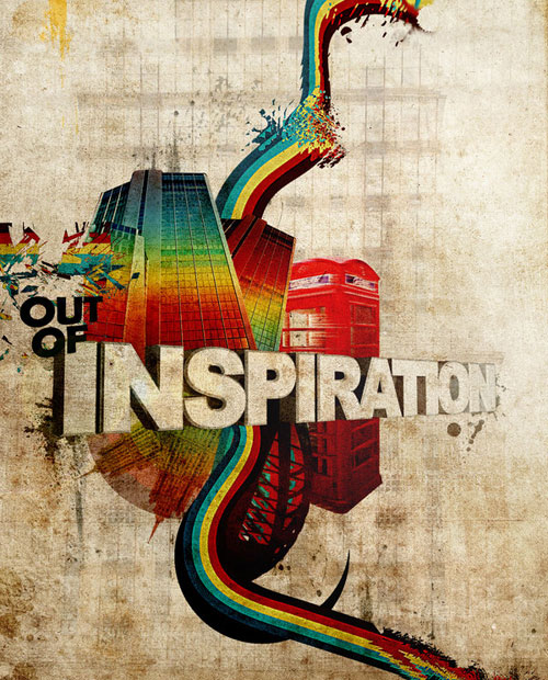 out of inspiration by royhoes 25 Inspirational 3D Typography Designs