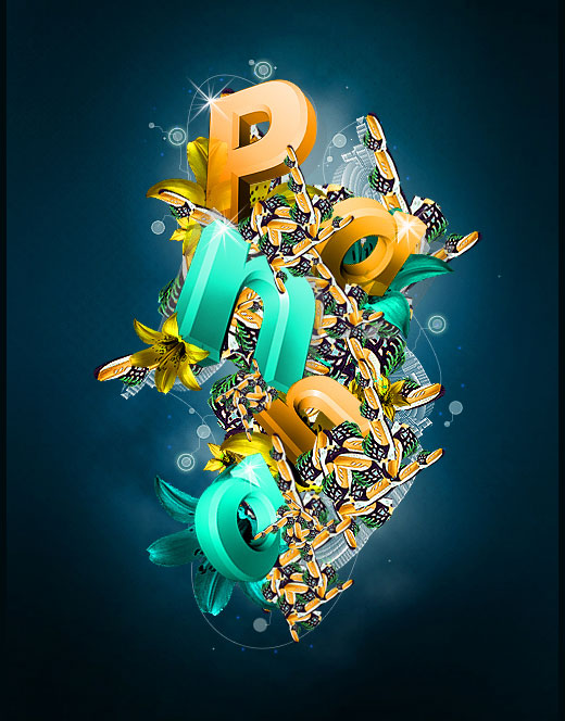 panna by excosoldier 25 Inspirational 3D Typography Designs