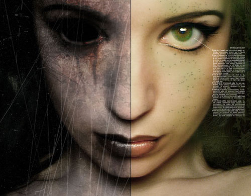 photoshop tutorial good and evil 23 Tutorials To Make Your Skin Crawl