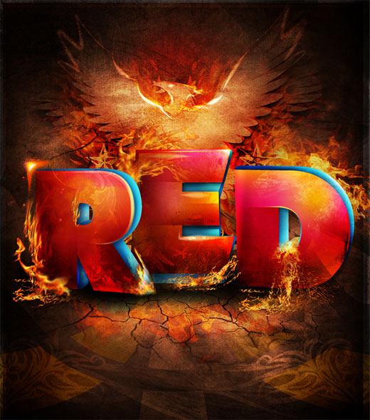 red 25 Inspirational 3D Typography Designs