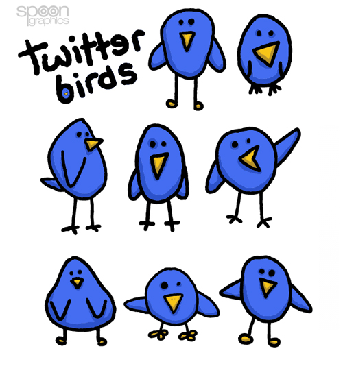 spoongraphics birds Over 75+ Beautiful Twitter Design Icons