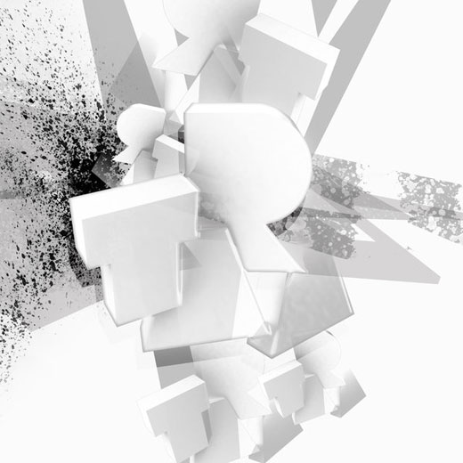 the_3d_white_typography_by_taramultimedia