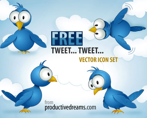tweet tweet set Over 75+ Beautiful Twitter Design Icons