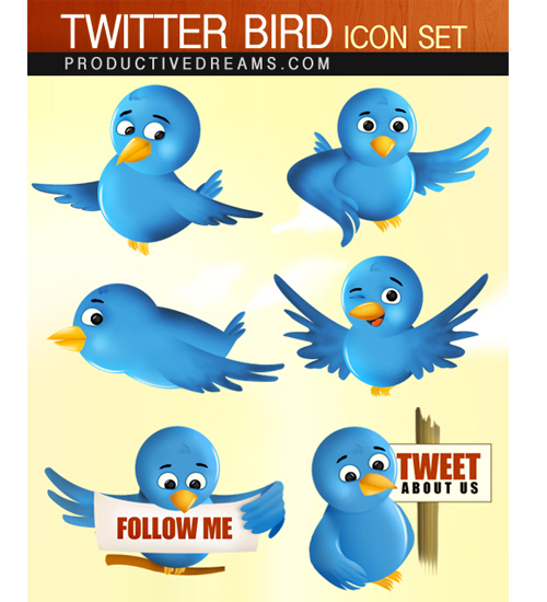 twitter bird icon set Over 75+ Beautiful Twitter Design Icons