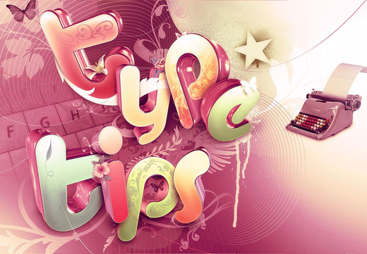 type tips by shinybinary 25 Inspirational 3D Typography Designs