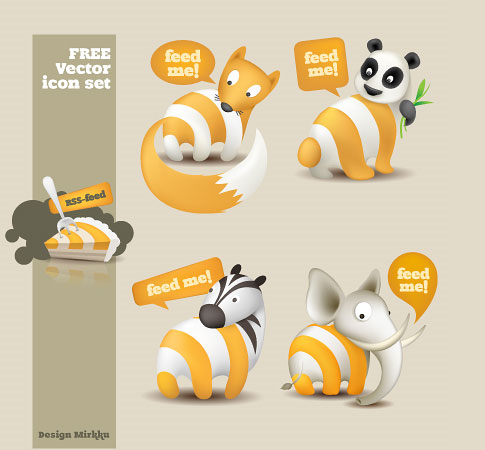 animal rss icon  Ultimate RSS Feed Icon Collection Over 1500+