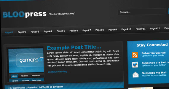 bloo 30 Tutorials On Converting A PSD To XHTML And CSS