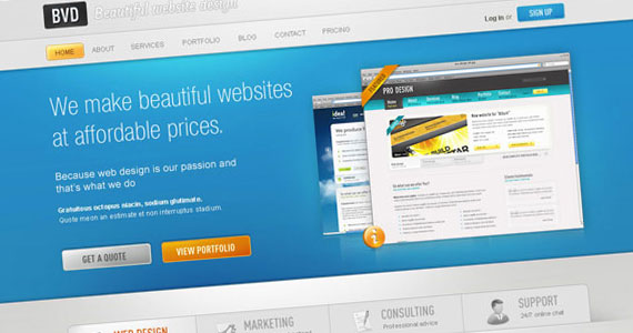 bvd 30 Tutorials On Converting A PSD To XHTML And CSS