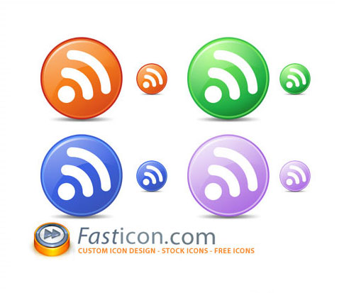 circle feed icons  Ultimate RSS Feed Icon Collection Over 1500+