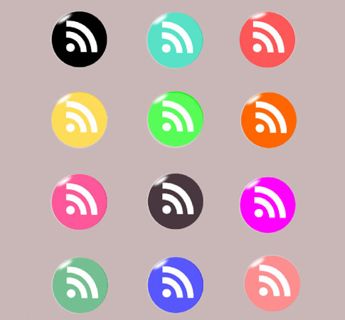 circle rss icons  Ultimate RSS Feed Icon Collection Over 1500+