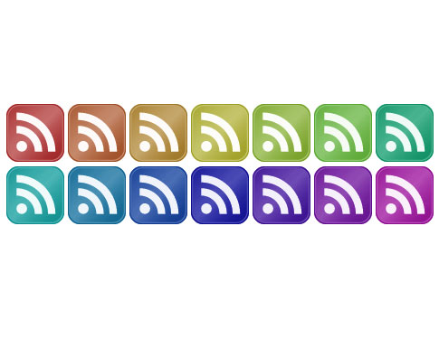 color icons  Ultimate RSS Feed Icon Collection Over 1500+