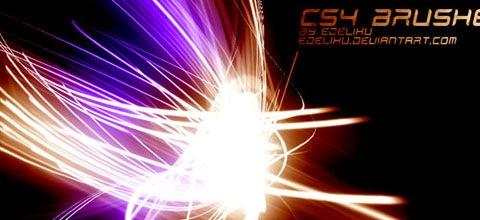 cs4 45+ Beautiful Light Abstract Photoshop Brush Sets