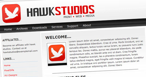 hawk studio 30 Tutorials On Converting A PSD To XHTML And CSS