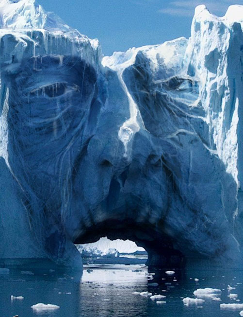 ice man 22 Amazing Real Life Photo Manipulations