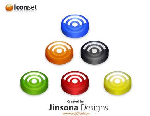 icon set  Ultimate RSS Feed Icon Collection Over 1500+