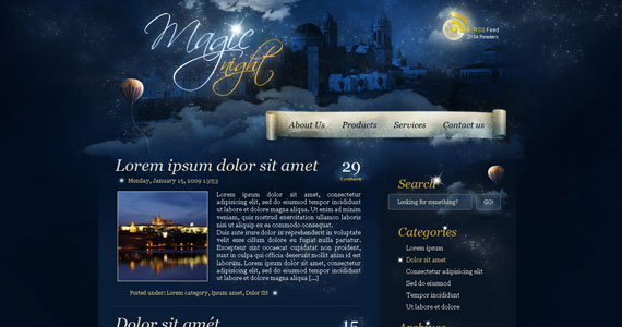 magic night 30 Tutorials On Converting A PSD To XHTML And CSS