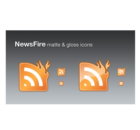 news fire  Ultimate RSS Feed Icon Collection Over 1500+