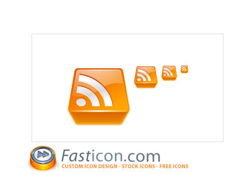 rss feed 3d icons  Ultimate RSS Feed Icon Collection Over 1500+