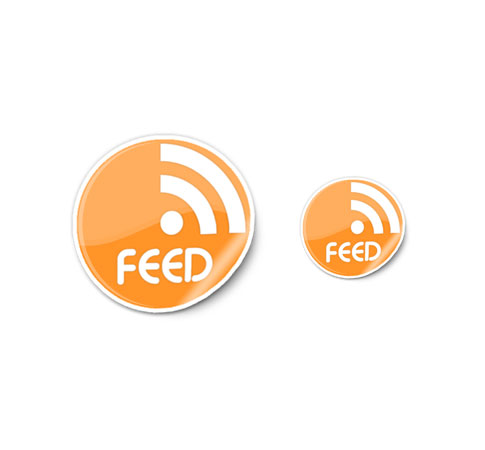 rss sticker icons  Ultimate RSS Feed Icon Collection Over 1500+