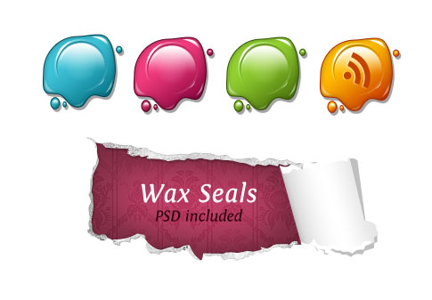 wax seals  Ultimate RSS Feed Icon Collection Over 1500+