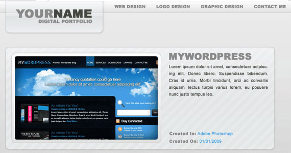 your name 30 Tutorials On Converting A PSD To XHTML And CSS