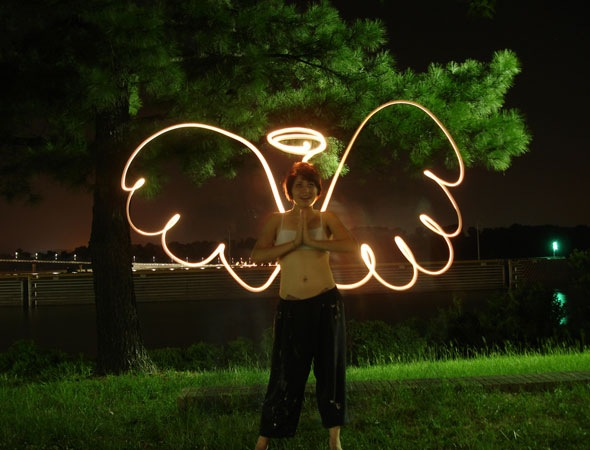angel 30 Awesome Examples Of Light Graffiti
