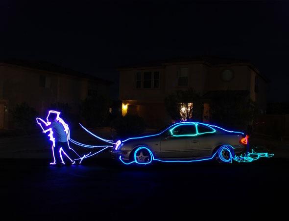 lightandcar 30 Awesome Examples Of Light Graffiti