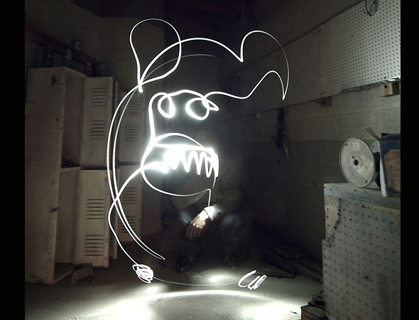 lightmonster thumb 30 Awesome Examples Of Light Graffiti