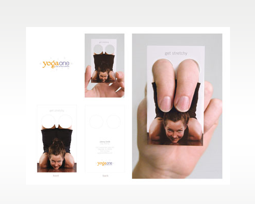 40 most creative business cards you will ever see creative nerds yoga one business card image reheart Gallery