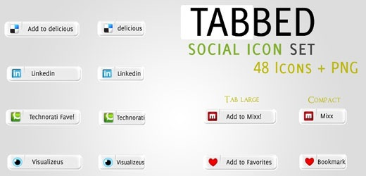 tabbed icon set Best Of The Web July For Web/Graphic Design