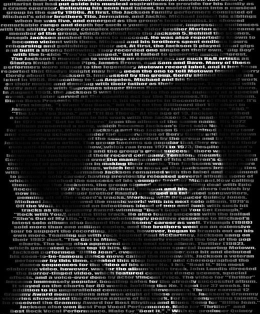 typographicportraitsmjackson 25 Beautiful Examples Of Typography Portraits
